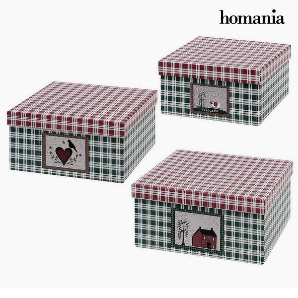Dekoratív doboz Homania 7635 (3 uds) Karton