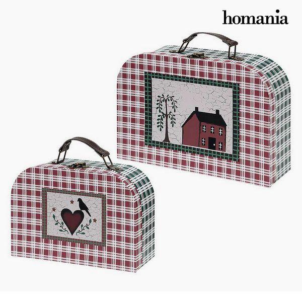 Bőrönd készlet Homania 7840 (2 uds) Karton