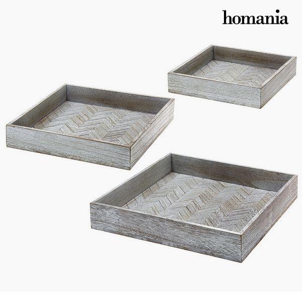 Tálca készlet Homania 9591 (3 pcs) Fa