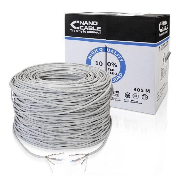 Cable de Red Rígido UTP Categoría 5e NANOCABLE ANEAHE0429 10.20.1704-SLD 305 m Gris
