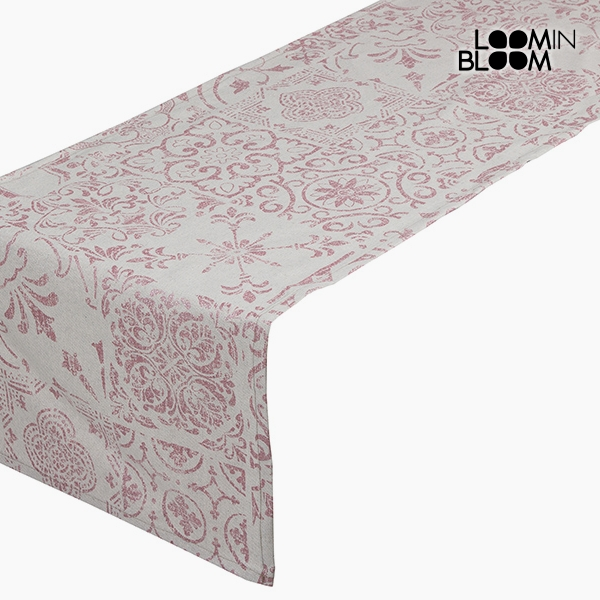 Asztali Futó Terítő Pamut és poliészter Rózsaszín (135 x 40 x 0,05 cm) by Loom In Bloom