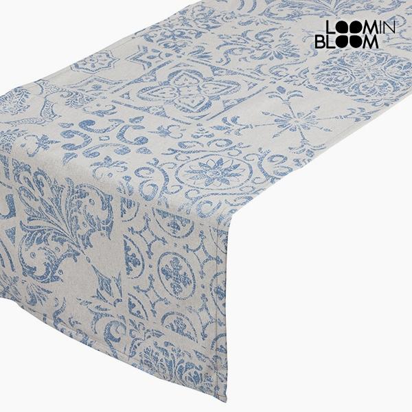 Asztali Futó Terítő Pamut és poliészter Kék (135 x 40 x 0,05 cm) by Loom In Bloom