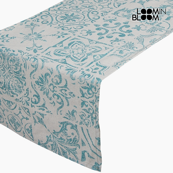 Asztali Futó Terítő Pamut és poliészter Zöld (135 x 40 x 0,05 cm) by Loom In Bloom