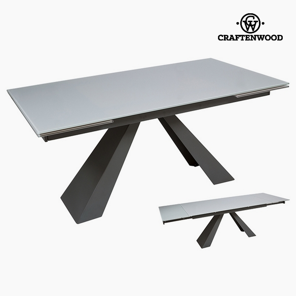 Kihúzható Asztal Temperált üveg (160 x 90 x 76 cm) by Craftenwood
