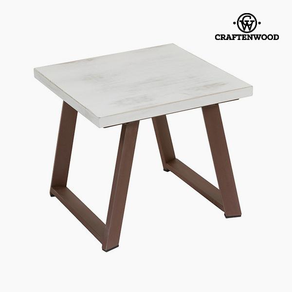 Kiegészítő Asztalka Fenyőfa Fehér Barna (50 x 50 x 45 cm) by Craftenwood