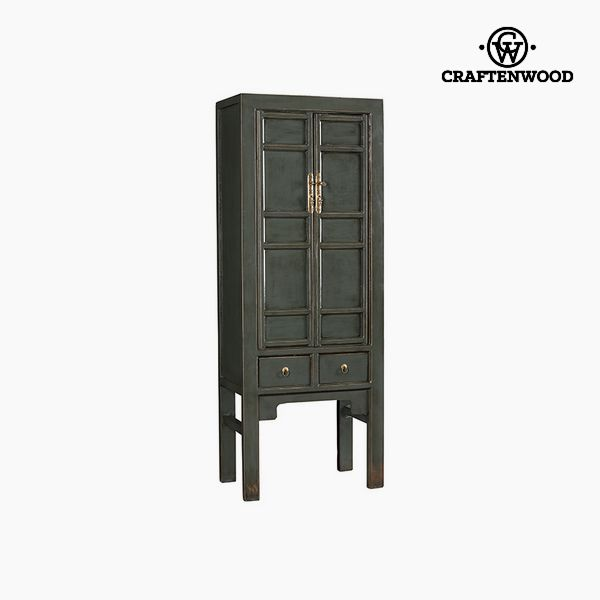 Armadio Legno di olmo Grigio (190 x 42 x 72 cm) - Country Collezione by Craftenwood 7569000921690  02_S0106212