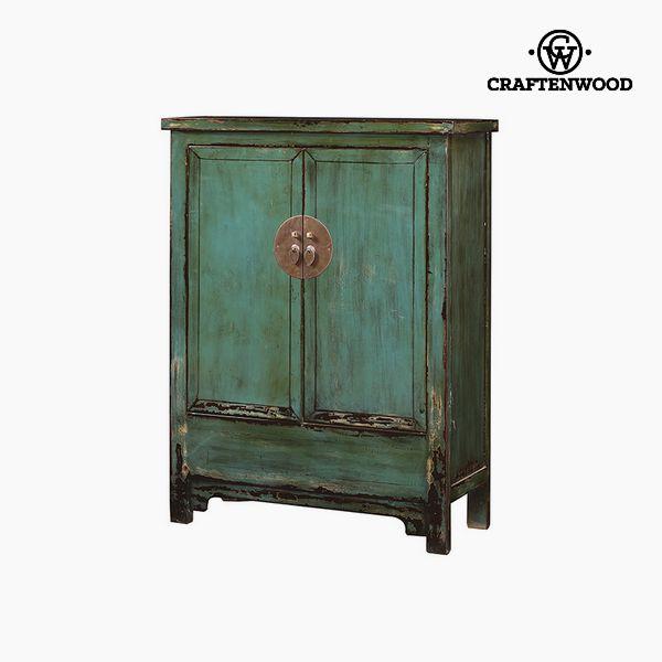 Armadio Legno di olmo Azzurro (120 x 132 x 40 cm) - Country Collezione by Craftenwood 7569000921676  02_S0106214