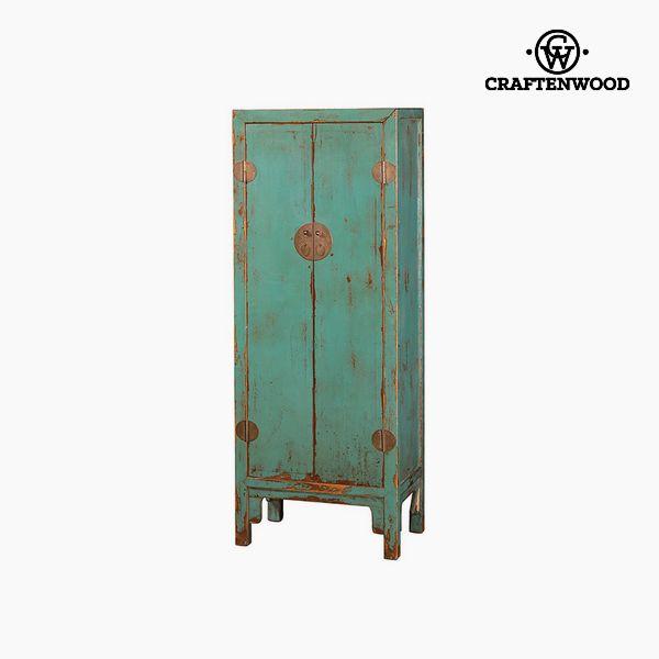 Armadio Legno di olmo Azzurro (183 x 43 x 69 cm) - Country Collezione by Craftenwood 7569000921683  02_S0106216