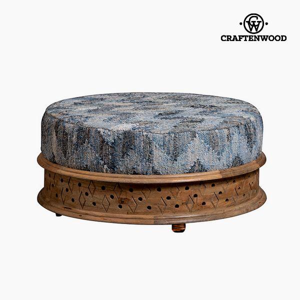 Puff Mango wood Vintage (90 x 90 x 40 cm) by Craftenwood