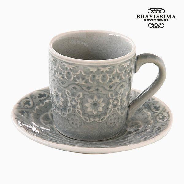 Csésze Tányérral Porcelán Szürke by Bravissima Kitchen