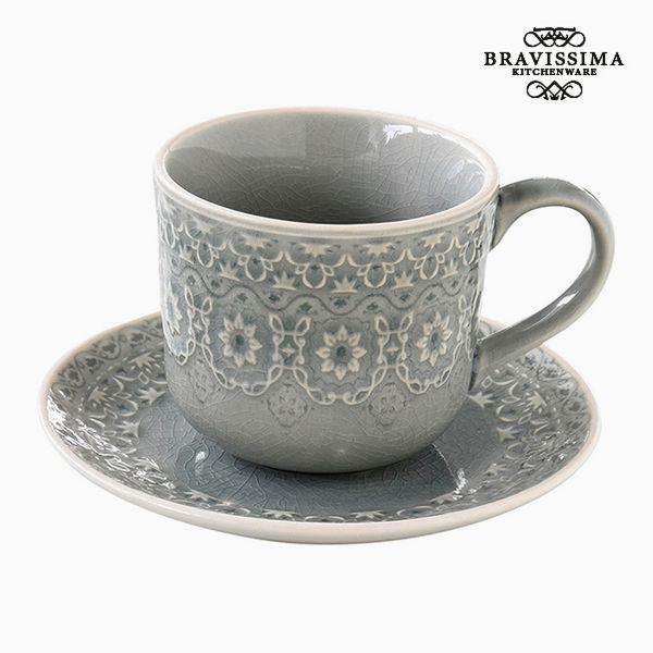 Teás Csésze Porcelán Szürke by Bravissima Kitchen