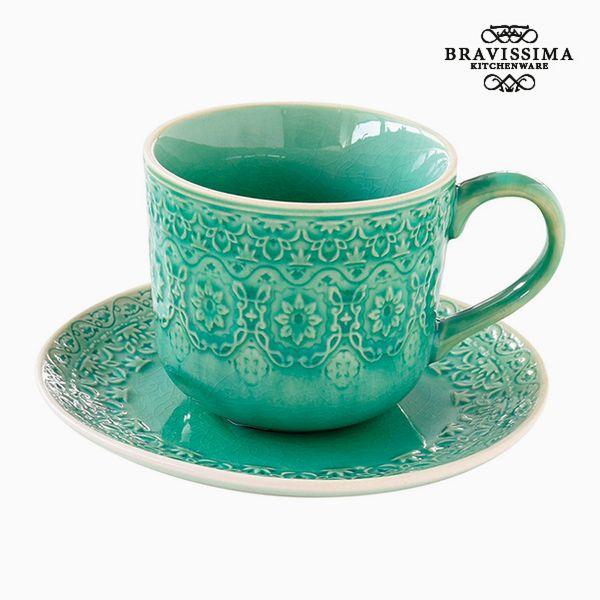 Teás Csésze Porcelán Zöld by Bravissima Kitchen