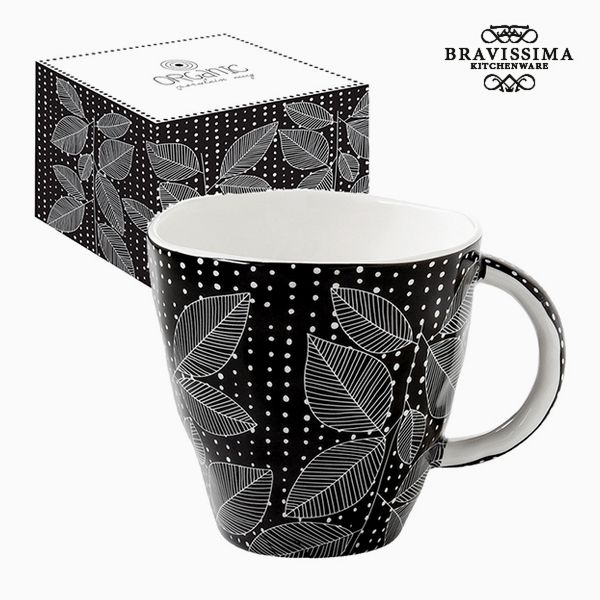 Csésze Dobozzal Porcelán Fekete by Bravissima Kitchen
