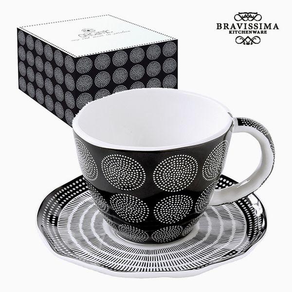 Teás Csésze Porcelán Fekete by Bravissima Kitchen