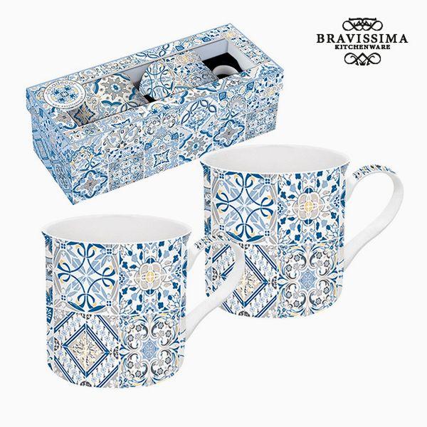 Bögre Szett Porcelán Kék (2 pcs) by Bravissima Kitchen