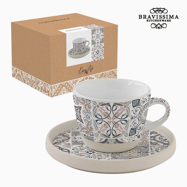 Csésze Tányérral Porcelán Mozaik by Bravissima Kitchen