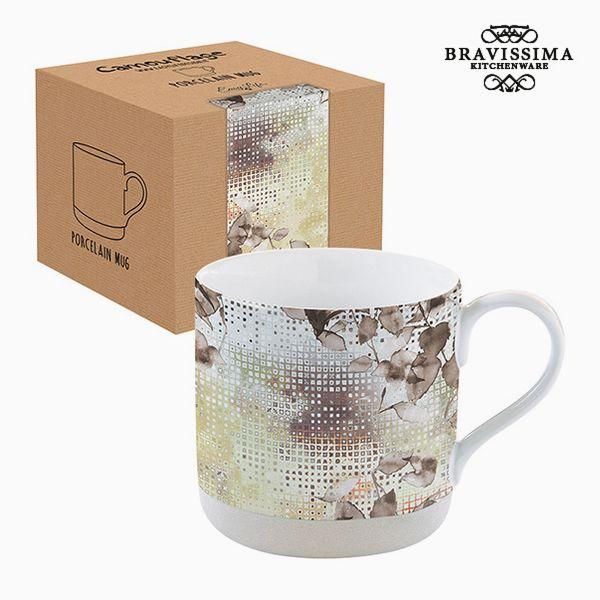 Csésze Dobozzal Porcelán Terepszínű Barna by Bravissima Kitchen