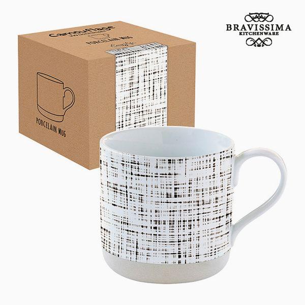 Csésze Dobozzal Porcelán Csíkok by Bravissima Kitchen