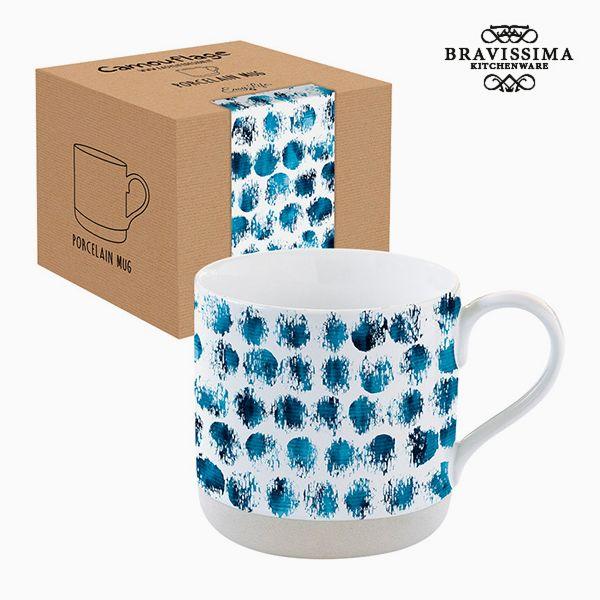 Csésze Dobozzal Porcelán Terepszínű Kék by Bravissima Kitchen