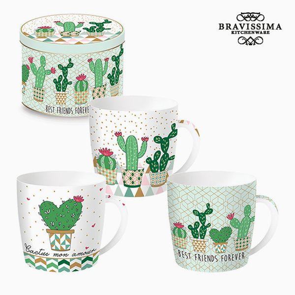 Csésze Dobozzal Porcelán Kaktusz by Bravissima Kitchen