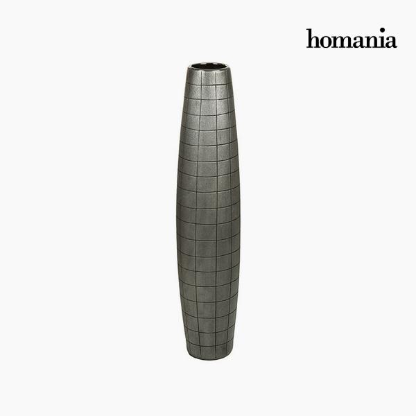 Padló váza Kerámia Ezüst (17 x 17 x 80 cm) by Homania