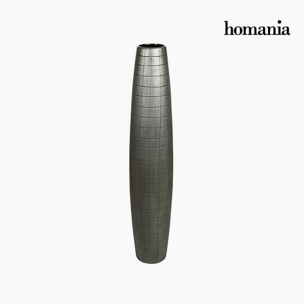 Padló váza Kerámia Ezüst (19 x 19 x 100 cm) by Homania