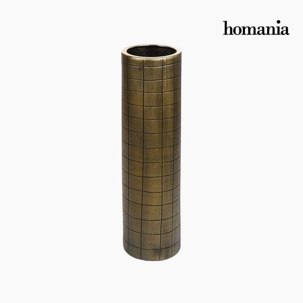 Váza Kerámia Arany (16 x 16 x 59 cm) by Homania