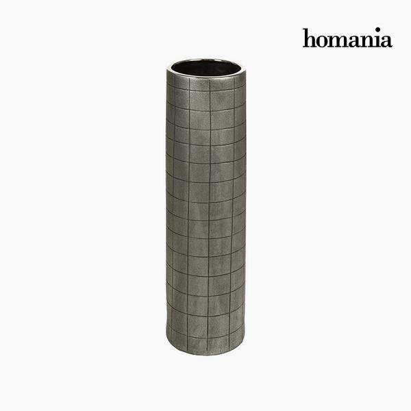 Váza Kerámia Ezüst (16 x 16 x 59 cm) by Homania
