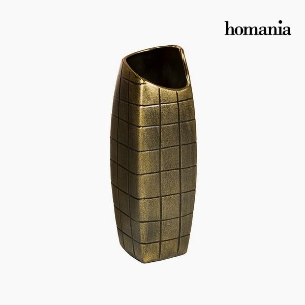 Váza Kerámia Arany (11 x 11 x 33 cm) by Homania