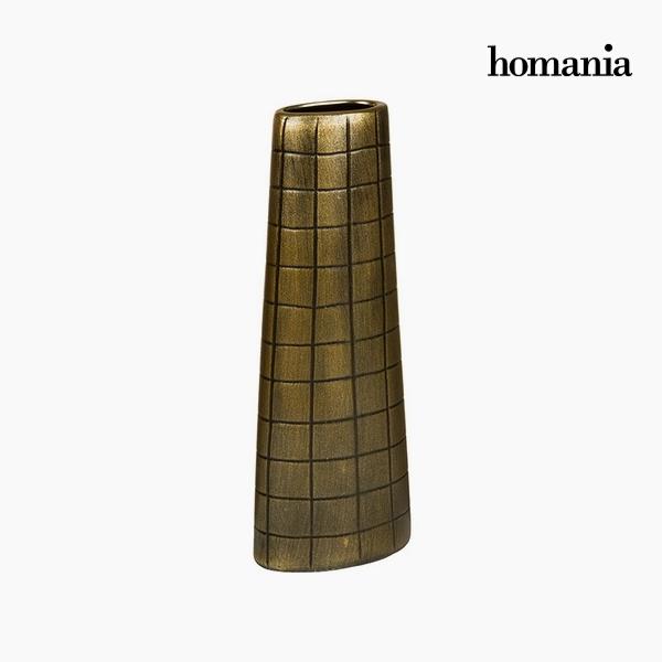Váza Kerámia Arany (17 x 9 x 44 cm) by Homania
