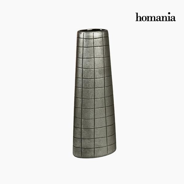 Váza Kerámia Ezüst (17 x 9 x 44 cm) by Homania
