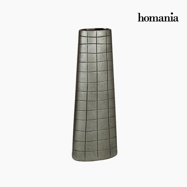 Váza Kerámia Ezüst (19 x 10 x 51 cm) by Homania