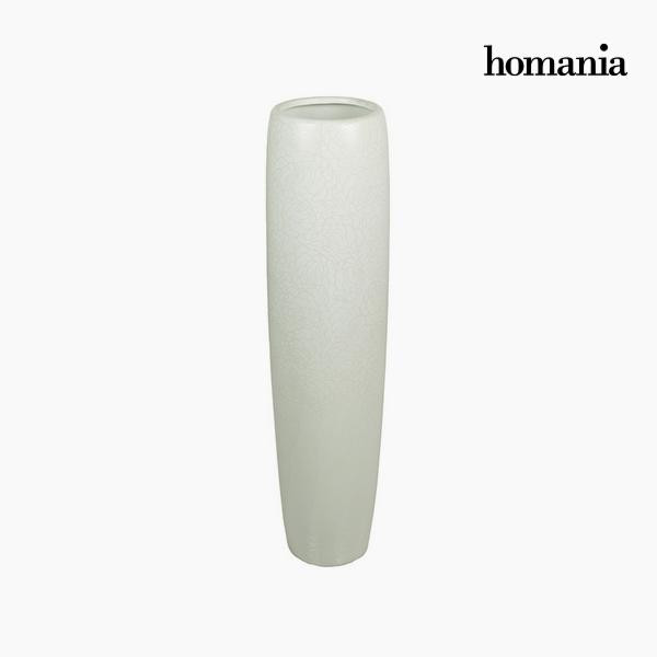 Padló váza Kerámia Fehér (21 x 21 x 83 cm) by Homania