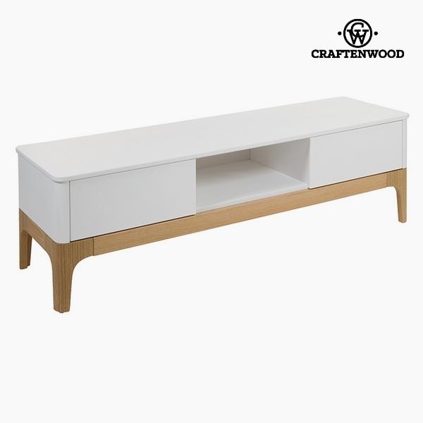 TV Asztal Mdf Fehér (2 fiók) (150 x 45 x 45 cm) by Craftenwood