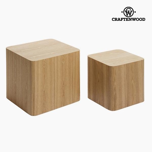 Szett 2 asztallal Kőris Mdf (40 x 40 x 38 cm) by Craftenwood
