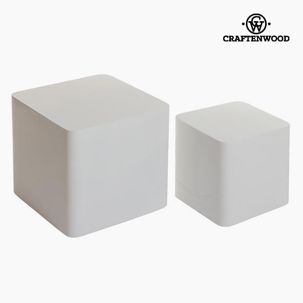 Szett 2 asztallal Mdf Fehér (40 x 40 x 38 cm) by Craftenwood