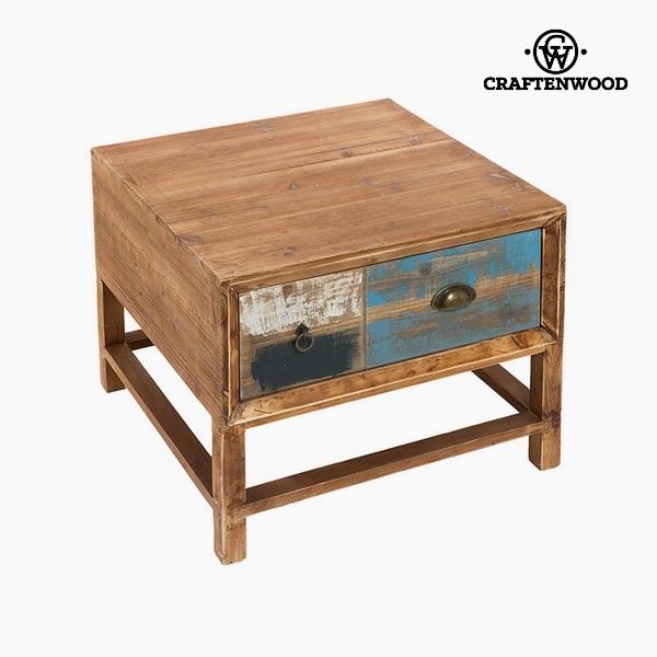 Kisasztal Farostlemez és fenyőfa (1 fiók) (60 x 60 x 45 cm) by Craftenwood