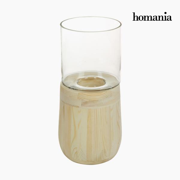 Portavelas Vidrio Madera - Colección Pure Crystal Deco By Homania -  - ebay.es