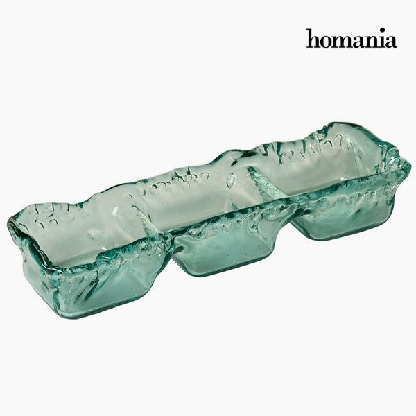 Újrahasznosított Üveg Asztaldísz Újrahasznosított üveg (38 x 13 x 10 cm) by Homania