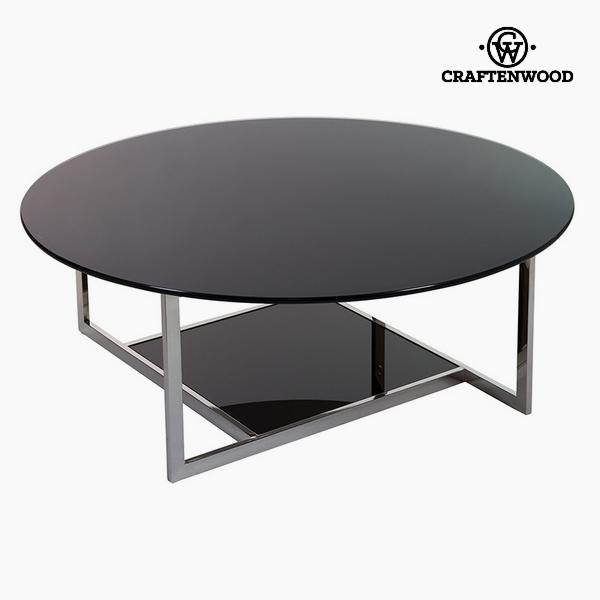 Dohányzóasztal Temperált üveg Fekete (110 x 40 x 40 cm) by Craftenwood