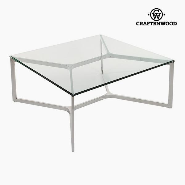 Dohányzóasztal Temperált üveg (90 x 90 x 41 cm) by Craftenwood