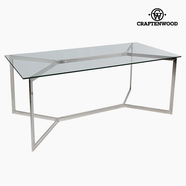 Étkezőasztal Temperált üveg (190 x 90 x 75 cm) by Craftenwood