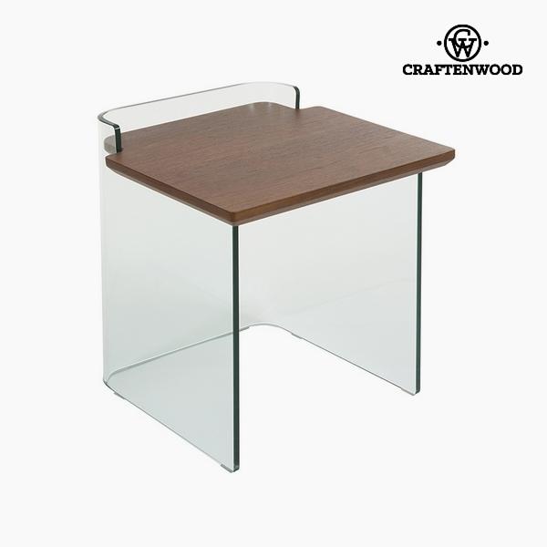 Kisasztal Hajlított üveg Dm Diófa (50 x 50 x 50 cm) by Craftenwood