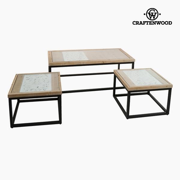 Szett 3 asztallal Lucfenyő (122 x 61 x 47 cm) by Craftenwood