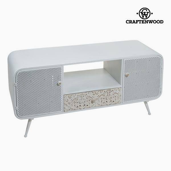 TV Asztal Lucfenyő Fehér (3 fiók) (120 x 40 x 54 cm) by Craftenwood