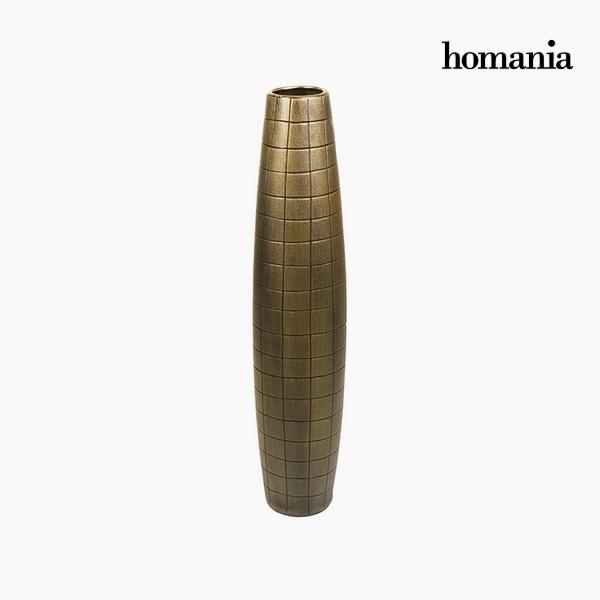 Padló váza Kerámia Arany (17 x 17 x 80 cm) by Homania