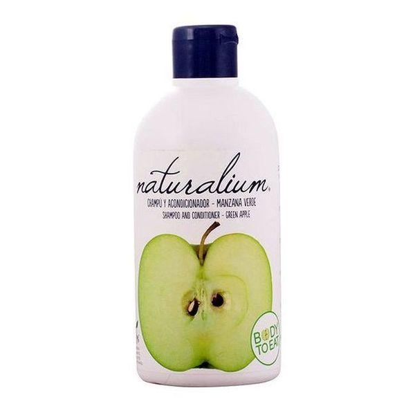 Šampon in balzam 2 v 1 Green Apple Naturalium (400 ml)