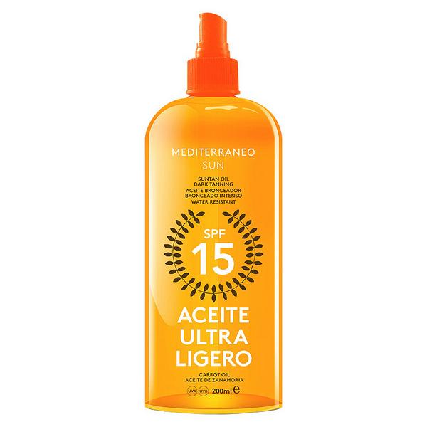 Napvédő olaj Carrot Suntan Mediterraneo Sun SPF 15 (200 ml)