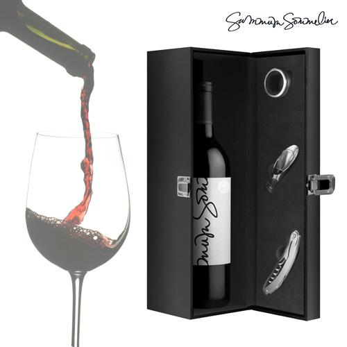 Estuche de Vino con Accesorios Summum Sommelier (4 piezas) B0520148