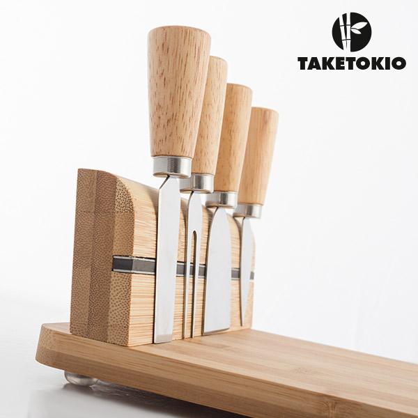 Set de Bambú para Cortar Queso TakeTokio (5 piezas) (3)